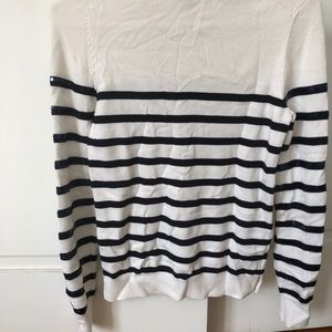 Ann Taylor Sweaters - Sequined Blue & White Sweater
